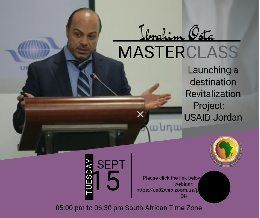 POSTPONED: : Meet Ibrahim Osta presenting his Masterclass to Project Hope and you are invited